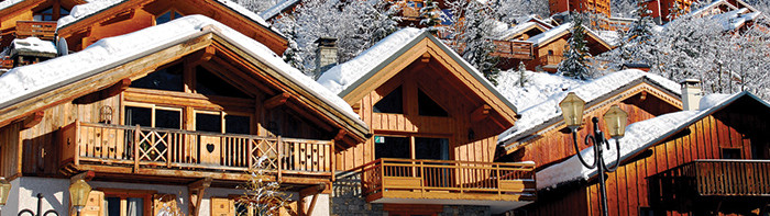 Unlike many purpose-built ski resort Méribel has retained its Alpine charm and consists entirely of chalet-style wood and stone buildings.