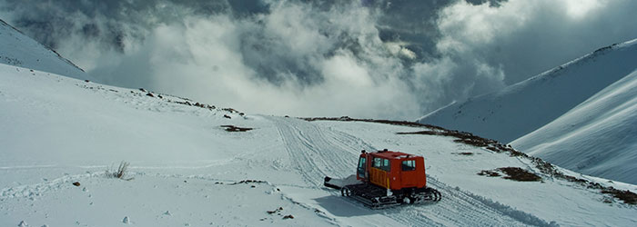 snowcat skiing Chile
