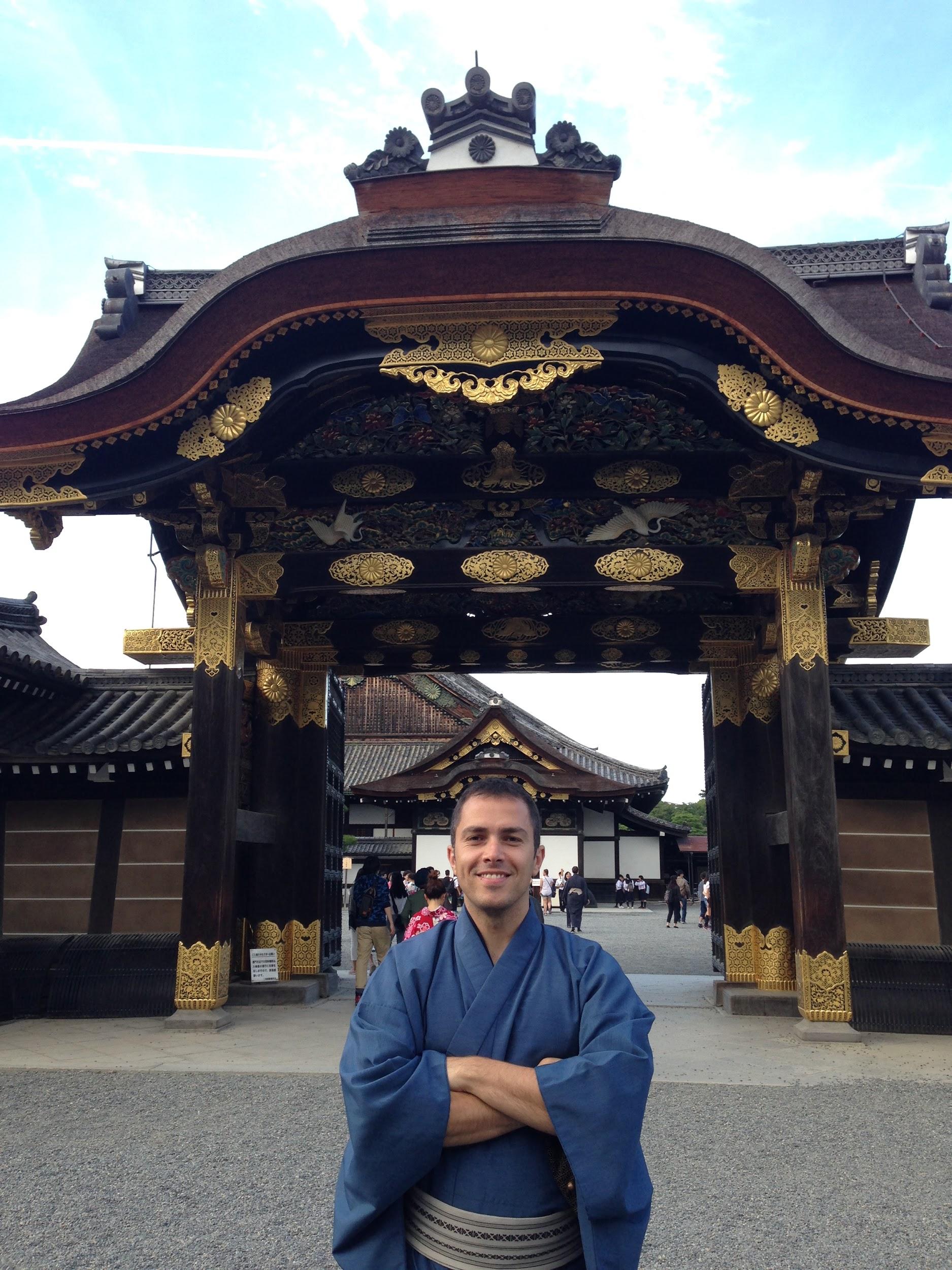 Pete at Kinkaku-ji - Golden Pavilion