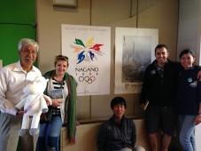 Nagano with our friends Kobi and Yuki