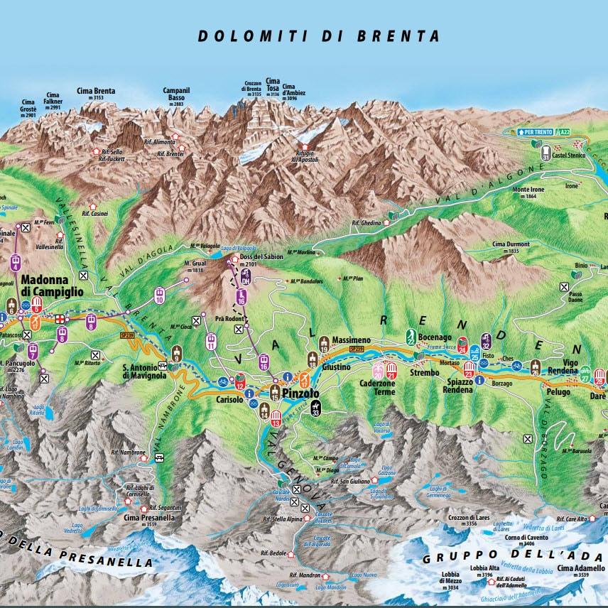 vilage map Madonna di Campiglio